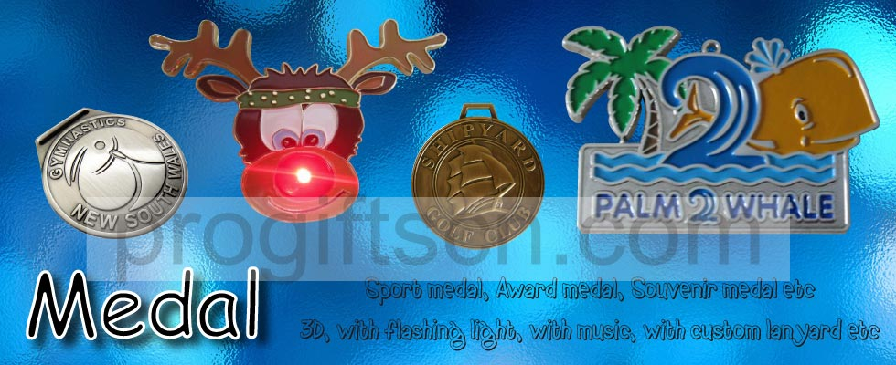 metal medal, medal with light, medal with music