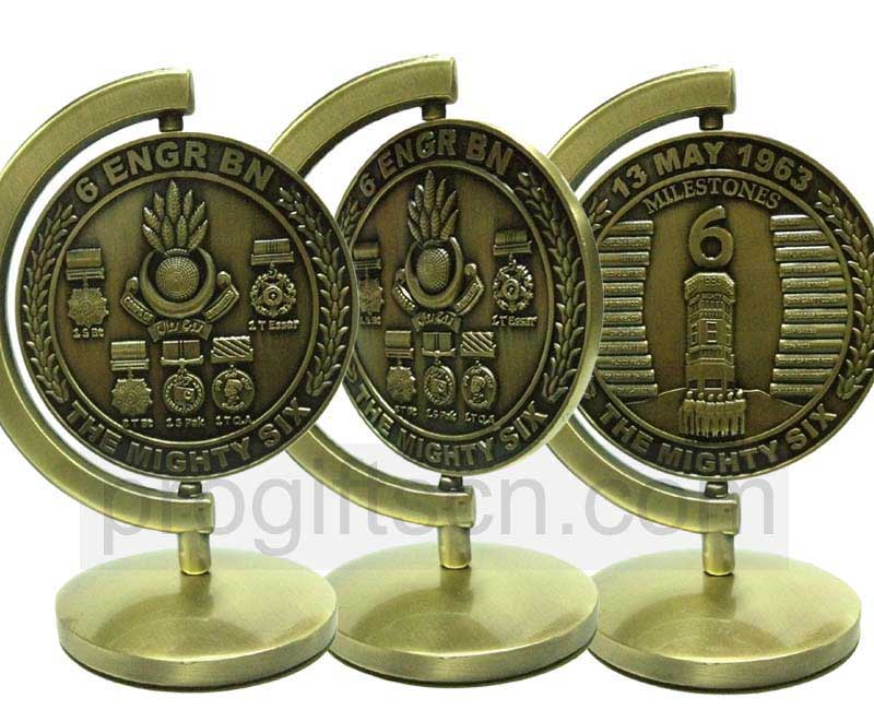 Antique Bronze Finishing UAE 3D The Mighty Six Design Metal Paperweight